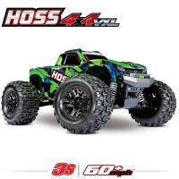 TRAXXAS - HOSS 4X4 VXL 3S 4WD BRUSHLESS RTR MONSTER TRUCK (GREEN)W/TQI 2.4GHZ RADIO, TSM & SELF-RIGHTING 90076-4-GRN