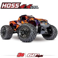 TRAXXAS - HOSS 4X4 VXL 3S 4WD BRUSHLESS RTR MONSTER TRUCK ORANGE TSM 90076-4-ORNG