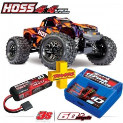 TRAXXAS - COMBO HOSS 4X4 VXL 3S 4WD BRUSHLESS RTR MONSTER TRUCK (ORANGE) W/TQI 2.4GHZ RADIO TSM COMBO-90076-4-ORNG