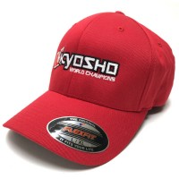 KYOSHO - CASQUETTE KYOSHO FLEXFIT L/XL - ROUGE 88001R