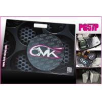 6MIK - STAND BOARD 510 X 370 FOR ADJUSTING ALL CAR SET UP - PINK & GREY PG57P
