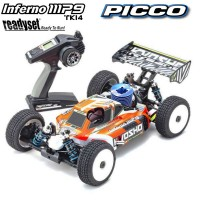 KYOSHO - INFERNO MP9 TKI4 V2 1:8 RC NITRO READYSET (PICCO REBEL XL) 33021RXL