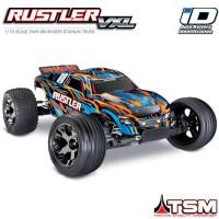 TRAXXAS - RUSTLER 4x2 1/10 VXL BRUSHLESS TSM - W/O BAT/CH ORANGE 37076-4-ORNGX