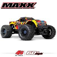 TRAXXAS - MAXX 4S 4x4 SOLAR FLARE 1/10 BRUSHLESS TQI TSM - SANS AQ/CHG RTR 89076-4-SLRF