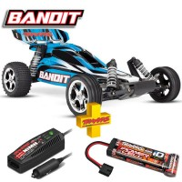 TRAXXAS - BANDIT - 4x2 - BLUE - 1/10 BRUSHED TQ 2.4GHZ - iD 24054-1-BLUEX