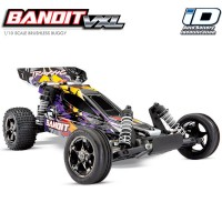TRAXXAS - BANDIT 4x2 - PURPLE 1/10 VXL TQ 2.4GHZ TSM iD W/O BATTERY & CHARGER 24076-4-PRPL