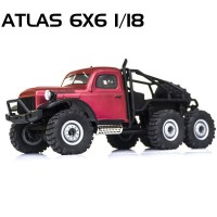 ROCHOBBY - 1/18 ATLAS 6X6 RTR SCALE CRAWLER ROC002RTR-RED