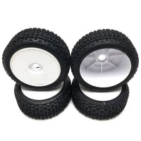 KYOSHO - INFERNO MP9 V2 READYSET GLUED ON RIM TYRES (4) (UNPACKAGED) IFTH005W