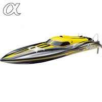 JOYSWAY - ALPHA BRUSHLESS YELLOW ARTR RACING BOAT W/O BATT/CHRGR JY8901Y