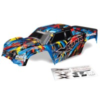 TRAXXAS - BODY X-MAXX ROCK N' ROLL (PAINTED, DECALS APPLIED) (ASSEMBLED WITH TAILGATE PROTECTOR) 7711T