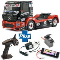 TAMIYA - COMBO READYSET RC MERCEDES ACTROS TANKPOOL24 MP4 KIT TT-01E 58683L