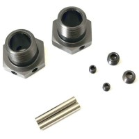 KYOSHO - HEXAGONES DE ROUES INFERNO MP10 GUN METAL (2) ETROITS IFW625N