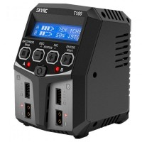 SKYRC - CHARGEUR DUO T100 AC (LIPO 2-4S UP TO 5A - 2X50W) SK-100162
