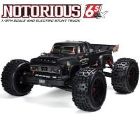 ARRMA - STUNT TRUCK NOTORIOUS 6S 4WD BLX 1/8 RTR V5 BLACK ARA8611V5T1