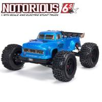 ARRMA - STUNT TRUCK NOTORIOUS 6S 4WD BLX 1/8 RTR V5 BLEU ARA8611V5T2
