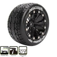 LOUISE RC - ST ROCKET TIRES + BLACK WHEELS 1/2 (X2) LR-T3208SBH