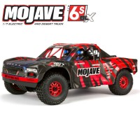 ARRMA - MOJAVE 6S 4WD BLX 1/7 DESERT TRUCK RTR RED/BLACK ARA7604V2T2