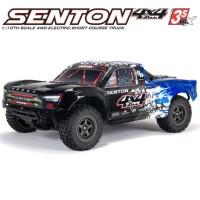 ARRMA - SHORT COURSE SENTON 4X4 3S BLX BRUSHLESS 1/10TH 4WD SC COLOR1 (BLUE) ARA4303V3T1