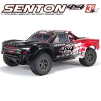 ARRMA - SHORT COURSE SENTON 4X4 3S BLX BRUSHLESS 1/10TH 4WD SC COLOR2 (RED) ARA4303V3T2