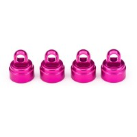 TRAXXAS - SHOCK CAPS ALUMINUM PINK-ANODIZED (4) (FITS ALL ULTRA SHOCKS) 3767P