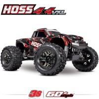 TRAXXAS - HOSS 4X4 VXL 3S 4WD BRUSHLESS RTR MONSTER TRUCK ROUGE TSM 90076-4-SRED