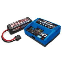PACK CHARGEUR LIVE 2971G +LIPO 4S 5000MAH 2889X PRISE TRAXXAS
