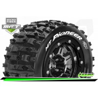 Louise RC - MFT - MT-PIONEER - Maxx Tire Set - Mounted - Sport - Black Chrome 3.8