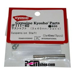 KYOSHO - AXES 3X40MM. INFERNO (2) SUPERIEUR AVANT IF111-40