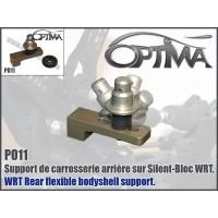 6MIK - SUPPORT CARROSSERIE ARRIERE SUR SILENT BLOC PO11
