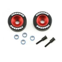 TRAXXAS - Roue Alu barre anti wheeling rouge ref 5186