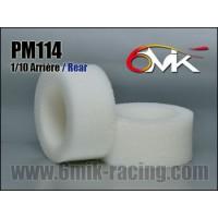PM114 MOUSSES DE PNEUS ARRIERE 6 Mik (la paire)