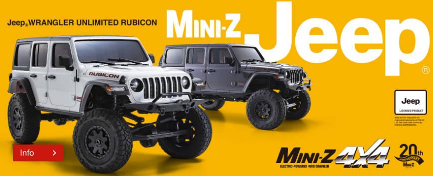 NEW KYOSHO MINI-Z 4X4 MX-01 JEEP WRANGLER RUBICON !