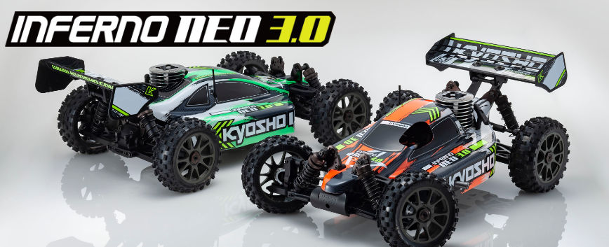 NEW KYOSHO INFERNO NEO 3.0 NITRO READYSET !!