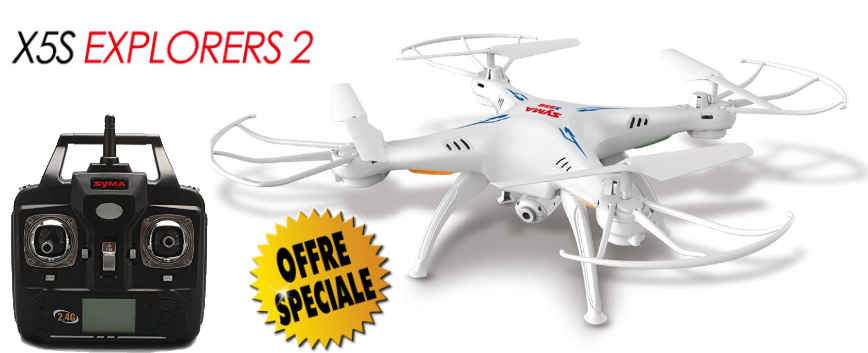 SYMA QUADCOPTERE X5SC 2.4G DRONE W / HD CAMERA - WHITE