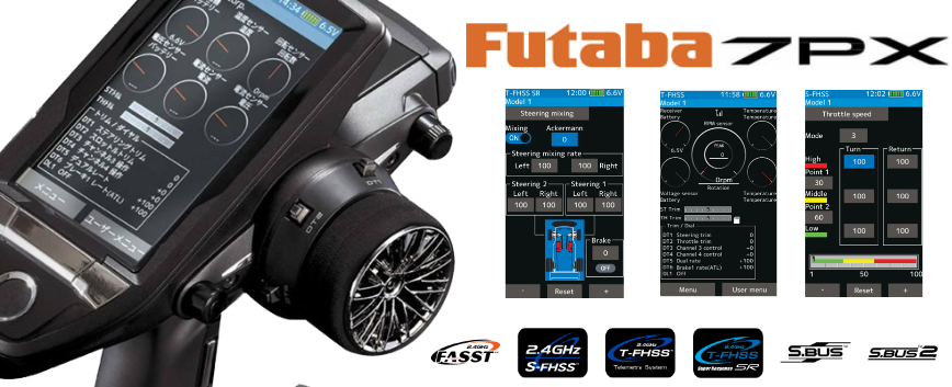 FUTABA 7PX EN STOCK !