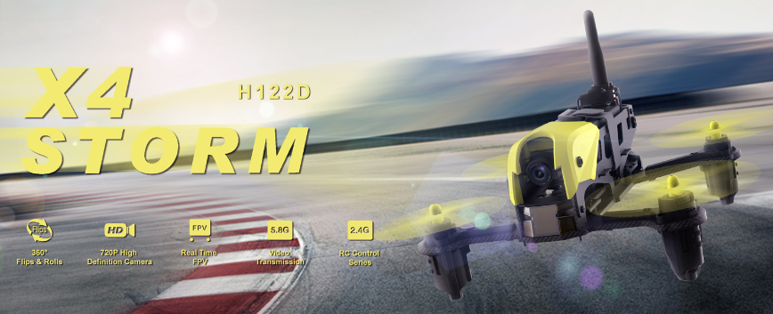 HUBSAN DRONE X4 STORM FPV EDITION H122D